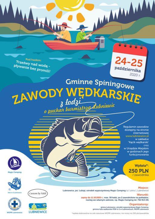 Gminne spinningowe zawody wędkarskie z łodzi o puchar Burmistrza Lubniewic