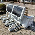 ławka solarna z solarami