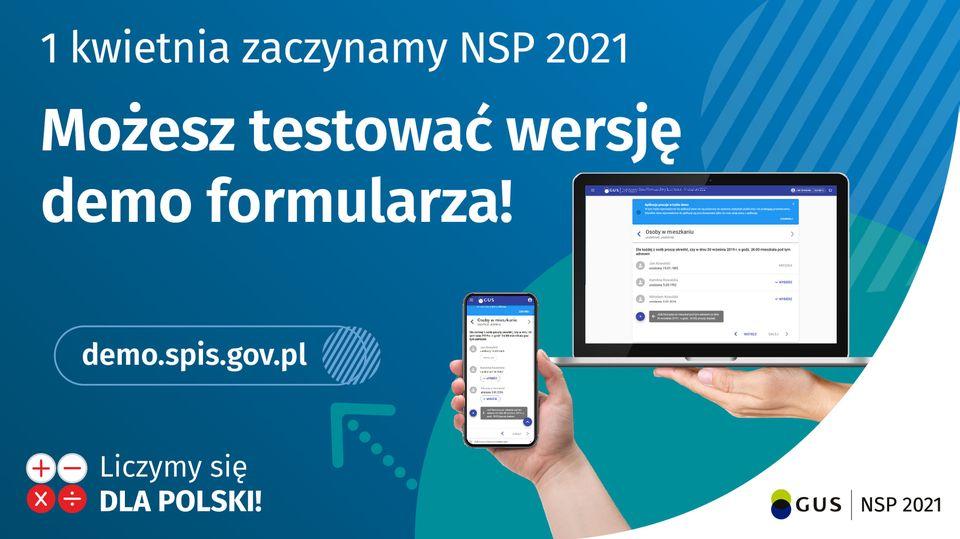 plakat wersja demo formularza spisowego