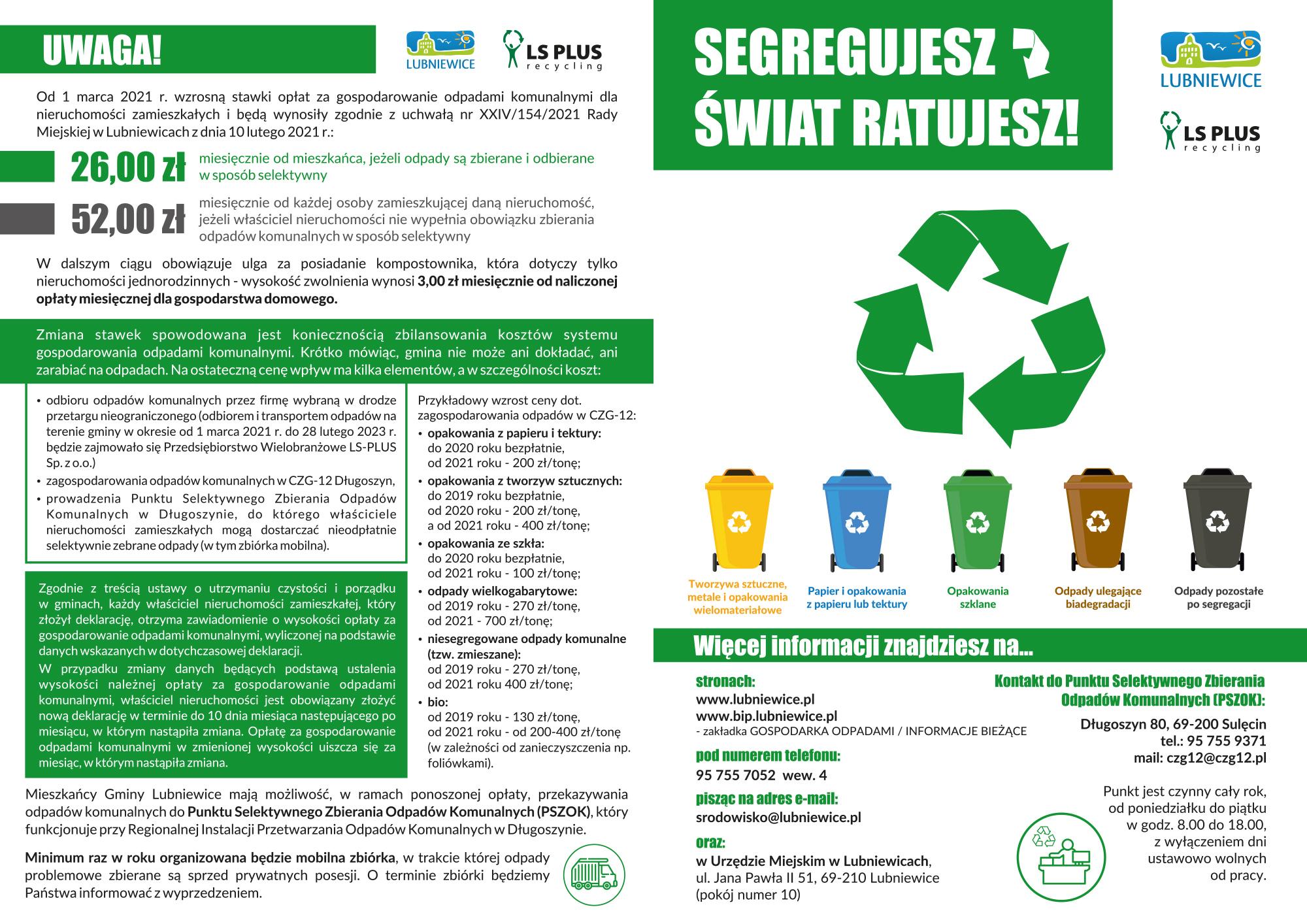 ulotka segregacji odpadów 1