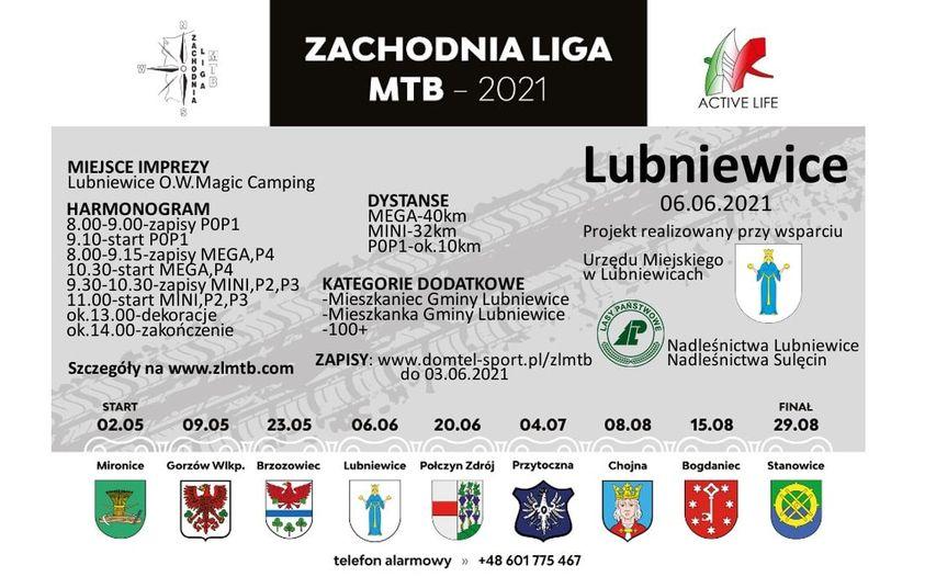 plakat zachodnia liga mtb lubniewice