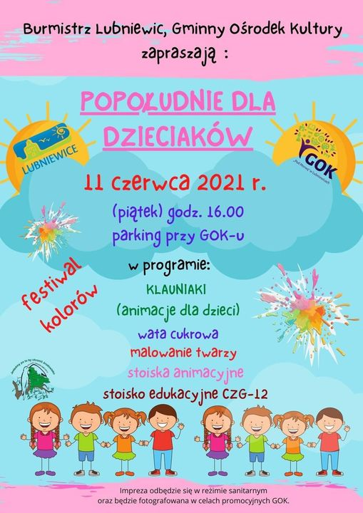 plakat dzień dziecka lubniewice 2021