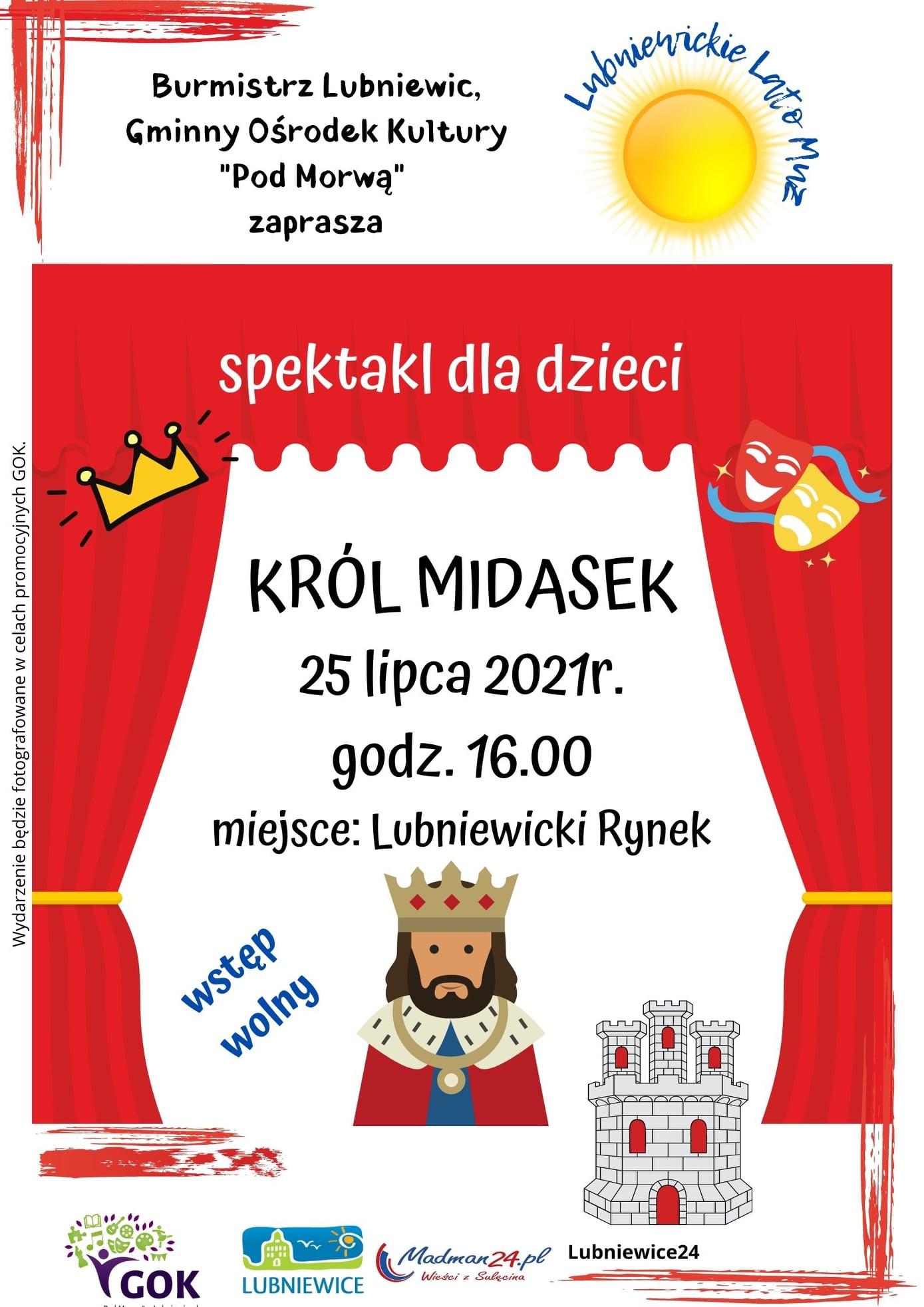 plakat król midasek lubniewice 2021