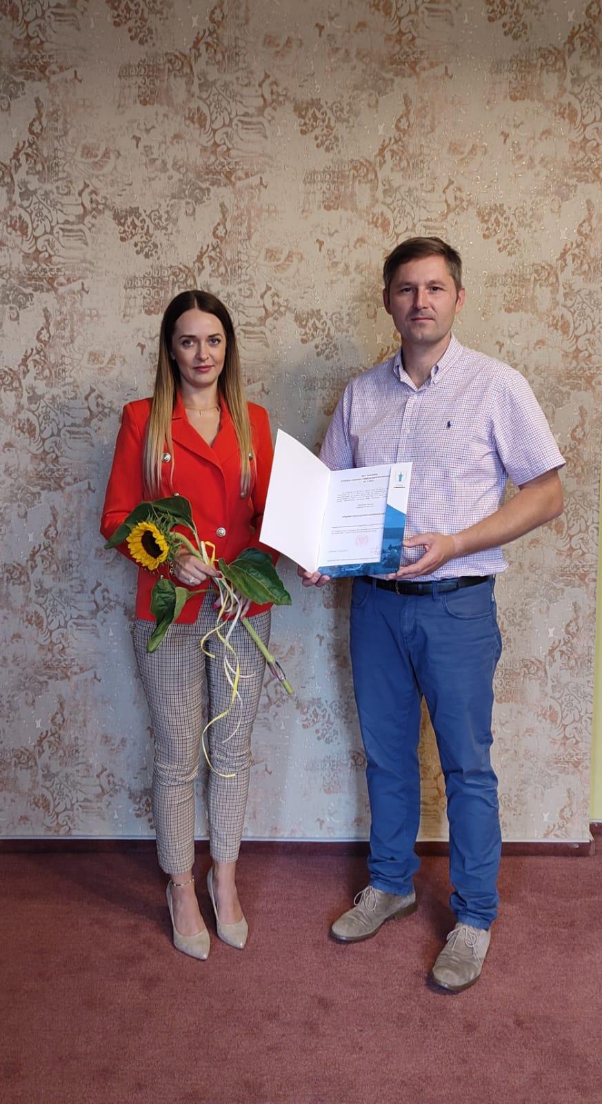 wręczenie aktu nadania na stopień nauczyciela mianowanego ewa soroka lubniewice