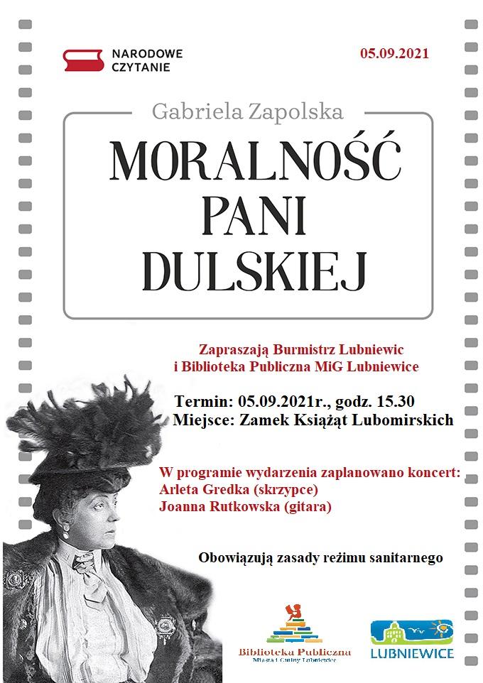 moralność*pani-duskiej-narodowe-czytanie-luniewice-plakat